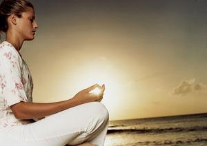 瞑想する人 5